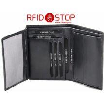 Bank- és azonosító kártyavédő pénztárca trifold pénztárca