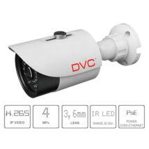 DVC DCN-BF743 IP kamera 4Mpx/25fps kültéri IR 3,6mm 20-30m H.265 audio bemenet kompakt
