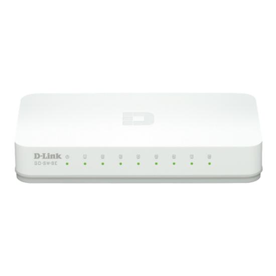 D-Link Desktop Switch - GO-SW-8E (10/100 Mbps, 8 port)