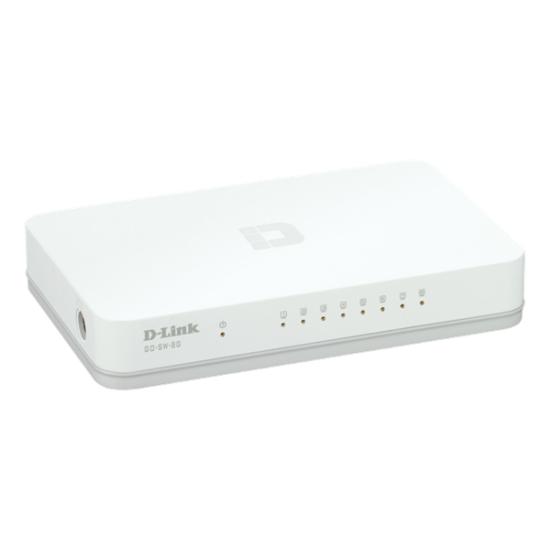 D-Link Gigabit Desktop Switch - GO-SW-8G (10/100/1000 Mbps, 8 port)