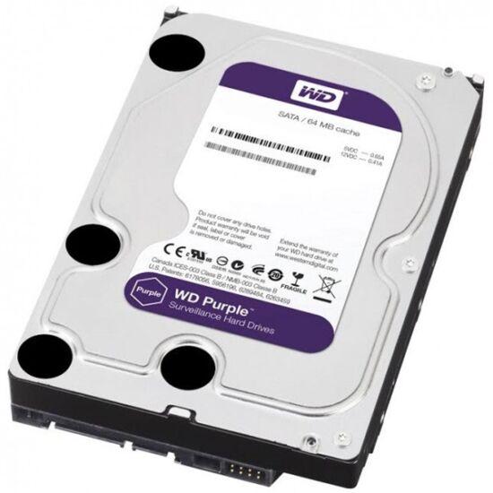 """Western Digital WD10PURX  1TB 3,5"""" Desktop 5400rpm, 64 MB puffer, SATA3 - Purple"""