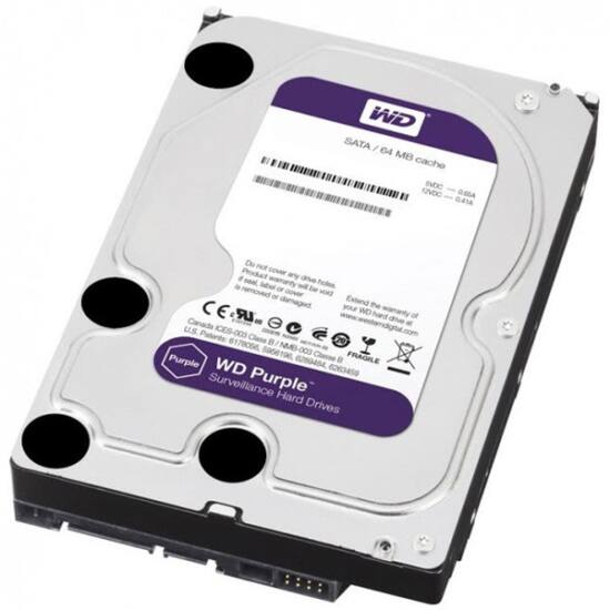 """Western Digital WD20PURX  2TB 3,5"""" Desktop 5400rpm, 64 MB puffer, SATA3 - Purple"""