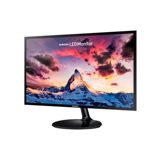 "Samsung 23,5""(16:9) S24F350FHU LED PLS monitor (1920x1080 FullHD, 250cd/m2, 4ms, Mega DCR, HDMI, Dsub, fekete) B2C"