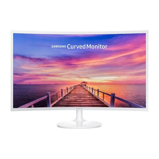 "Samsung 31,5""(16:9) C32F391FWU LED VA Ívelt monitor (1920x1080 FullHD, 250cd/m2, 4ms, Mega DCR, HDMI, Dsub, fehér) B2C"