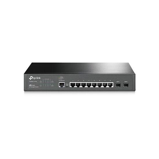 TP-Link T2500G-10TS JetStream™ Switch (L2 Menedzsment; 10/100/1000Mbps, 8port gigabit + 2port gigabit SFP; IPv6)
