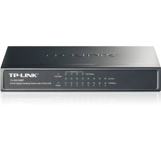 TP-Link TL-SG1008P PoE Switch (10/100/1000Mbps, 8/4 PoE port)