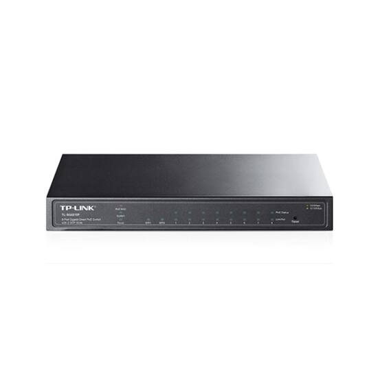 TP-Link TL-SG2210P Smart PoE Switch (L2 menedzsment; 10/100/1000Mbps, 8 port PoE gigabit + 2 port combo SFP, 53W)