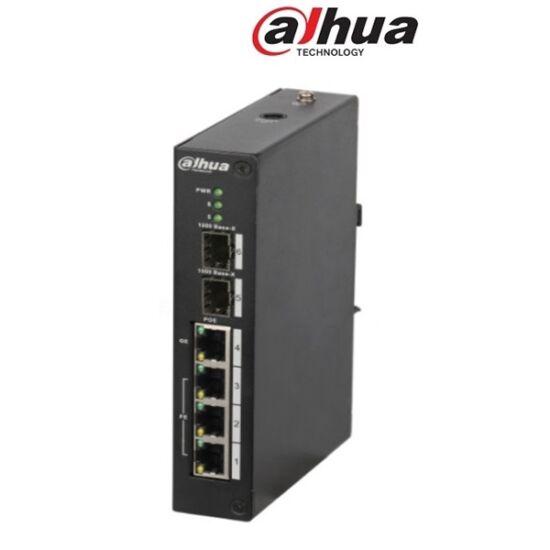 Dahua PFS3206-4P-120 PoE switch, 3x 10/100(PoE+/PoE) + 1x gigabit(HighPoE/PoE+/PoE) + 2x SFP uplink, 120W, 53VDC