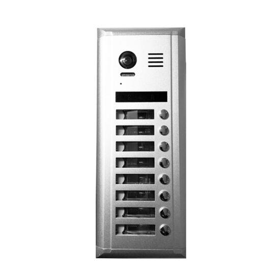 V-TEK kültéri kaputelefon 8 gombos, társasházi lakásokhoz