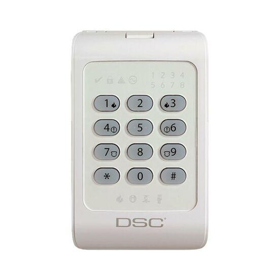DSC 1404, 8 zónás LED kezelő fehér háttérfénnyel