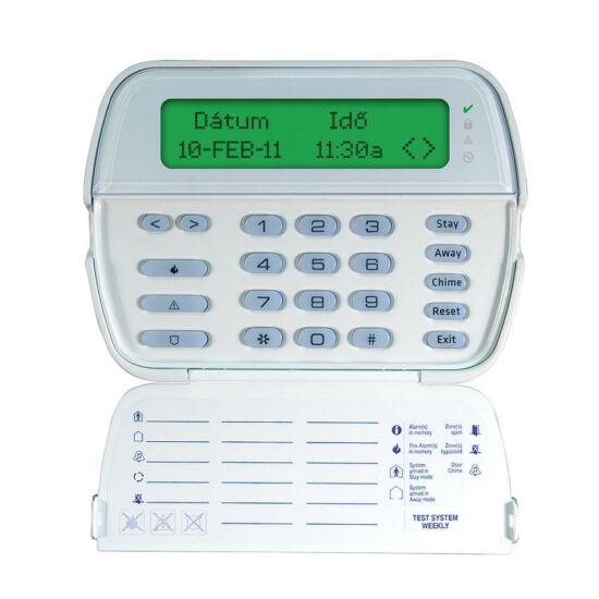 DSC WT5500 vezeték nélküli, szöveges LCD kezelő