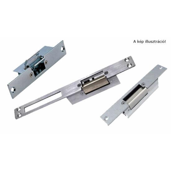 Normál működés, kioldó retesz, állítható zárnyelv távolság, 8-14 V ac/dc