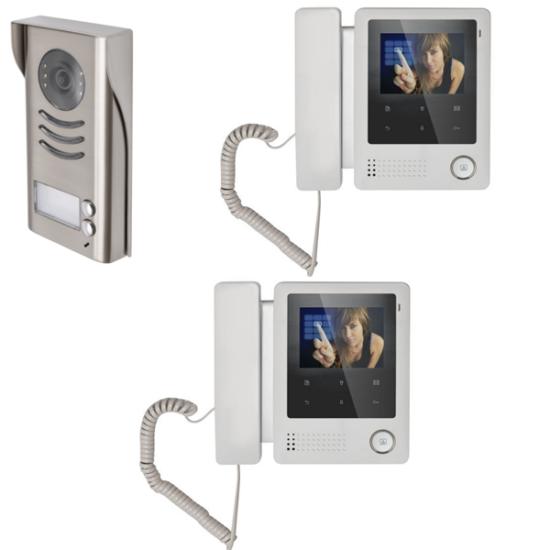 V-TEK 2 lakásos - színes videó kaputelefon szett