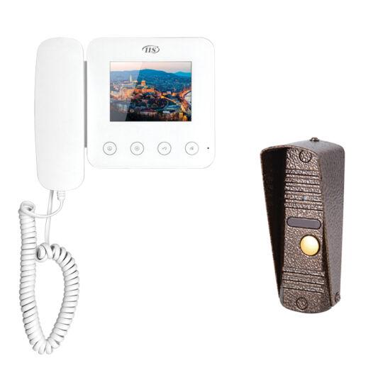 """IIS 4 vezetékes kaputelefon szett, 4""""-os Fekete monitoral és kapuegységgel"""