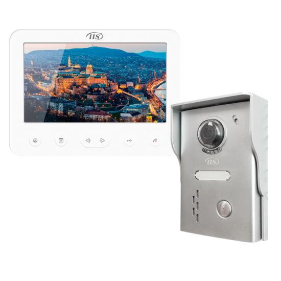 """IIS 4 vez. kaputelefon szett, 7""""-os Fehér monitorral és kapuegységgel"""