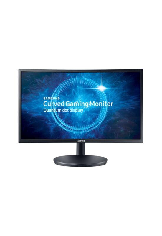 "Samsung 23,5""(16:9) C24FG70FQU LED VA Quantum Dot Ívelt monitor (1920x1080 FullHD, 350cd/m2, 1ms, 2HDMI, 144Hz, Pivot)"