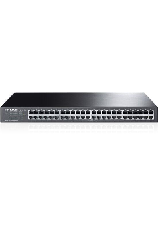 TP-Link TL-SF1048 Switch (10/100Mbps, 48 port, fém házas, rackbe szerelhető)