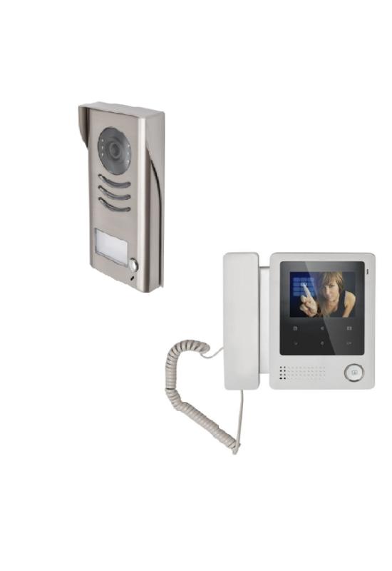 V-TEK 1 lakásos - színes videó kaputelefon szett