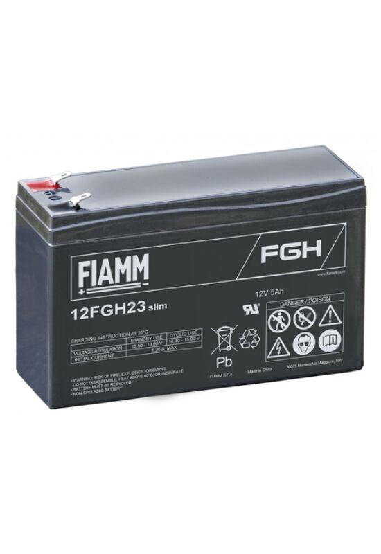 12FGH23Slim Fiamm 12V 5Ah akkumulátor