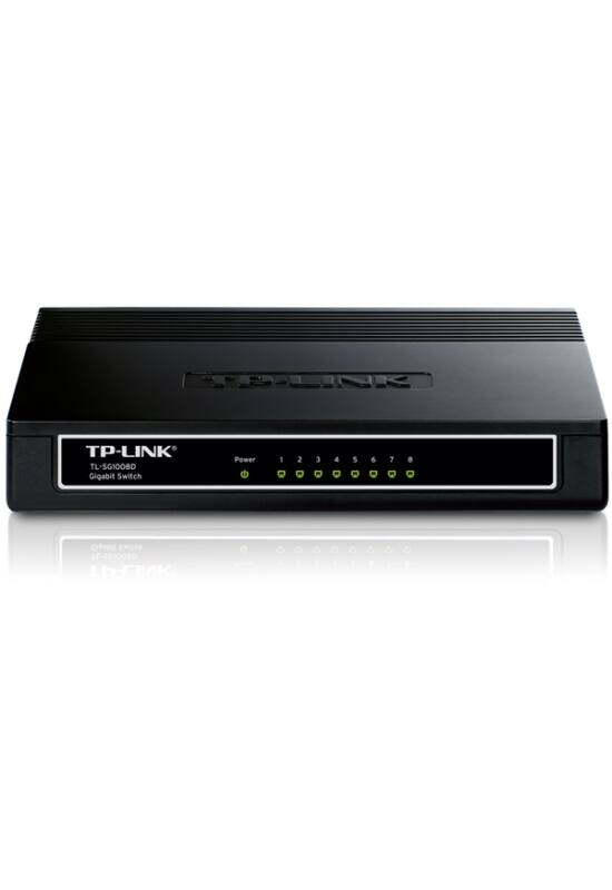 TP-Link TL-SG1008D Switch (10/100/1000Mbps, 8 port)