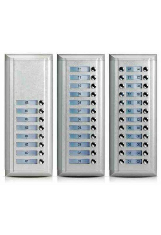 V-TEK Bővítőpanel - többlakásos rendszerekhez, 8 gombos